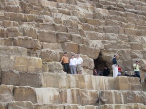 Great Pyramid entrance