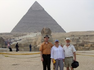 Scott Diane and Brandon in front of Sphinx